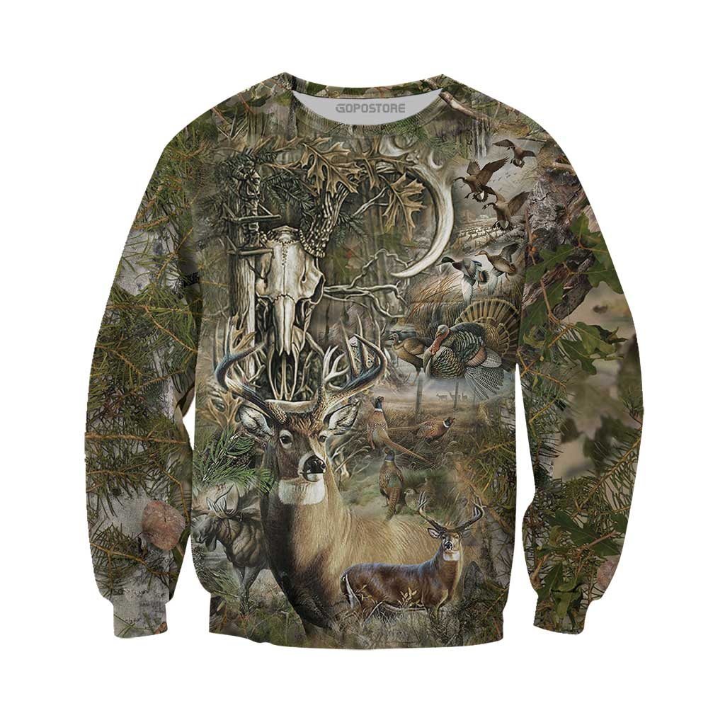 Beautiful Hunting Camo 3D All Over Printed Shirts for Men and Women 2