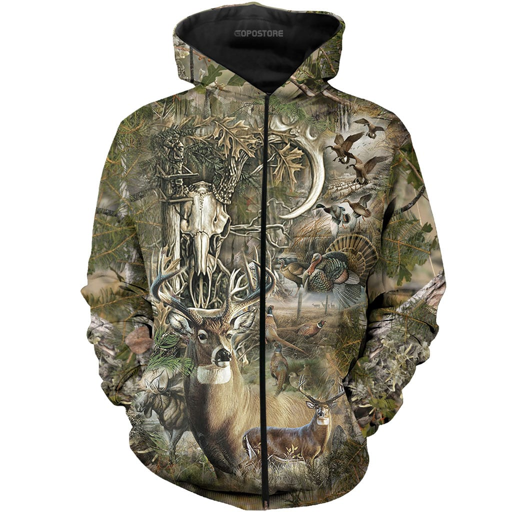 Beautiful Hunting Camo 3D All Over Printed Shirts for Men and Women 4