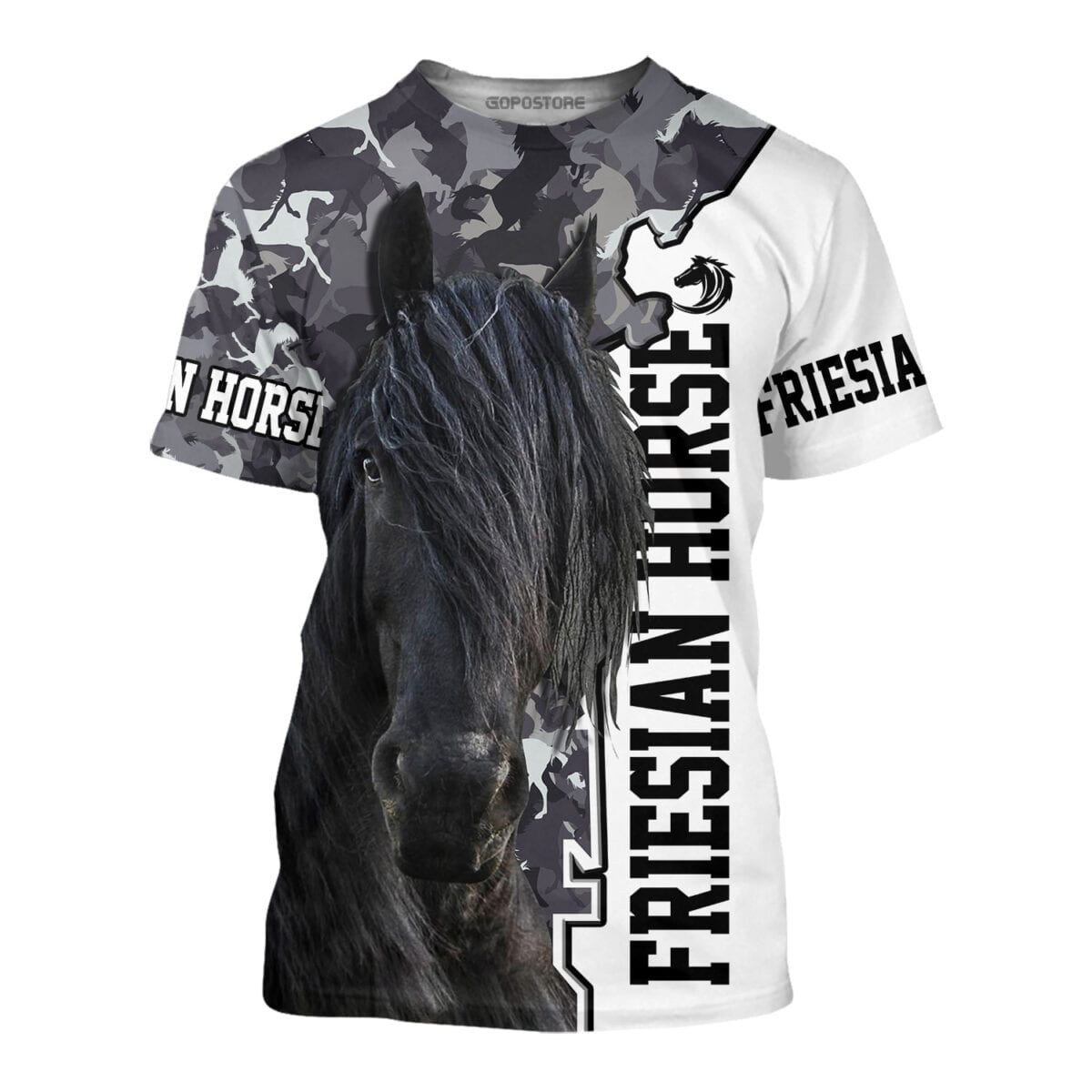 Beautiful Friesian Horse Art 3d All Over Printed Shirts Gopostore Online Clothing Store