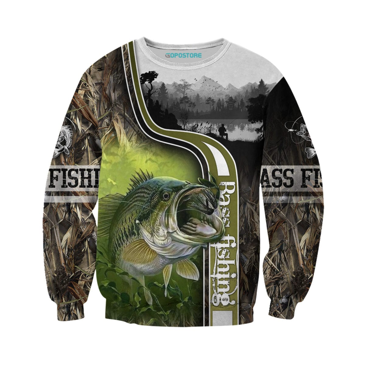 Bass Fishing 3D All Over Printed Shirts for Men and Women 7
