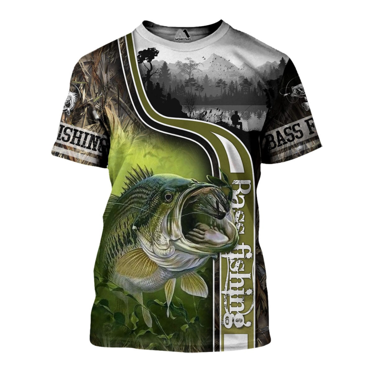 Bass Fishing 3D All Over Printed Shirts for Men and Women 8
