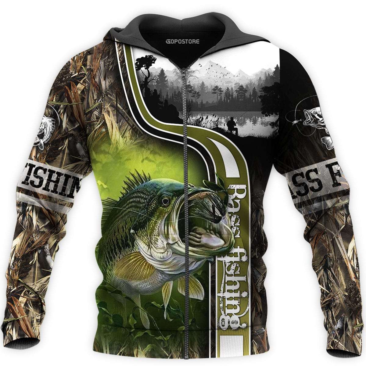 Bass Fishing 3D All Over Printed Shirts for Men and Women 9