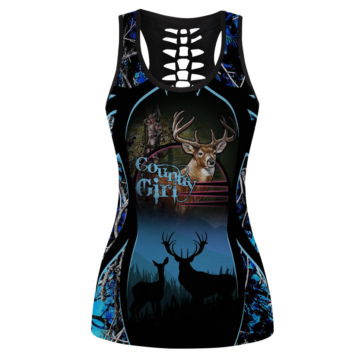 Country Girl Deer Hunting Leggings and Hollow out Tank Top 5