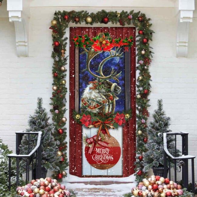 Love Reindeer Christmas Door Cover