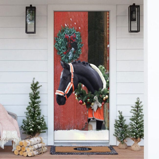 Love Horse Christmas Door Cover